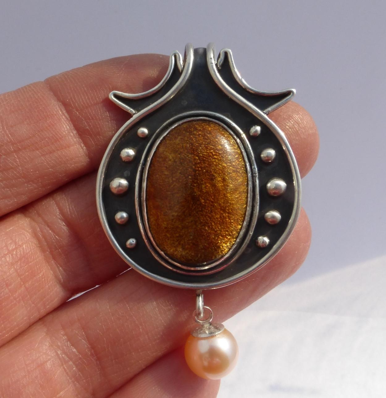beginning jewelry making silver pendant IBEG
