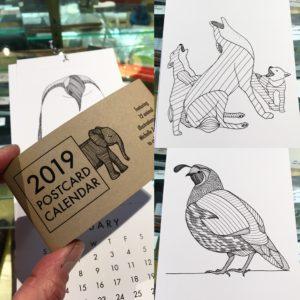 2019 Postcard Calendar by Michelle Ziedman