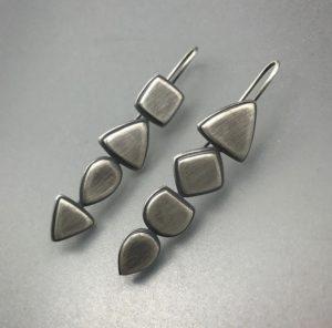 Cream shape earrings, June Cream, silver, earrings, Jewelry, Jewelry smith, Jewelry making, danaca design, jewelry classes, jewelry smithing, gallery, Danaca Design Gallery, jewelry gallery