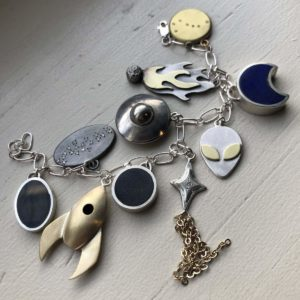 June Cream - Outer Space - Charm Bracelet Challenge 2019