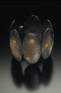 Bracelet, Megan Corwin, Die Forming and Multiples for Chasing and Repousse