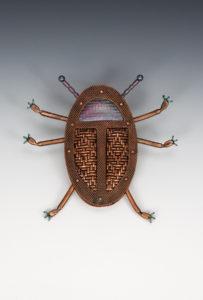Brooch, woven metal, Jeanie Pratt