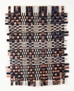 Woven metal sample, Jeanie Pratt