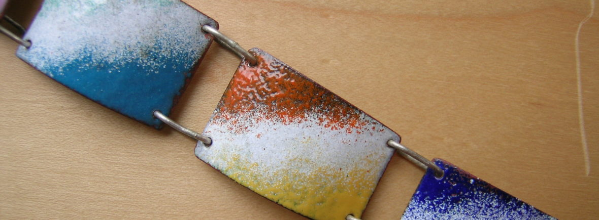 Sample of low tech enameling