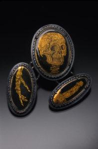 Enamel brooch by Keith Lewis