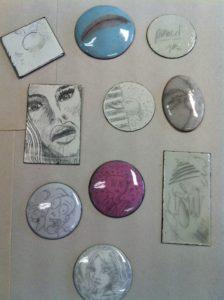 Enameling samples by Keith Lewis