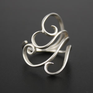 Filigree ring, sterling, Peggy Foy / Arcana Metalwork