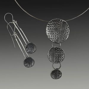 Necklace and earrings, April Ottey