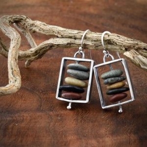 Cairn earrings, April Ottey