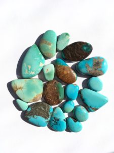 Assorted turquoise cabochons