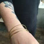 Brass bangle bracelets