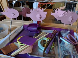 Powder coated animal silhouettes, Tegan Wallace - Jewelry & Metalsmithing Summer Camp for Kids 13+
