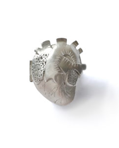 Silver heart locket by Maru Almeida