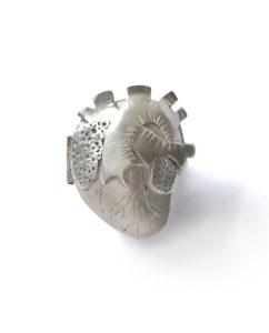 Silver heart locket by Maru Almeida