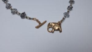 Necklace clasp in Bronze PMC, Suz O'Dell, Bronze Precious Metal Clay