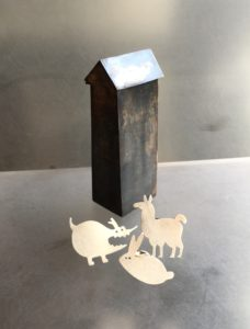 Tegan Box, Tegan Wallace, silver, farm, animals, dog, llama, rabbit, bunny, pins, box