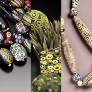 Polymer clay jewelry by Cynthia Toops